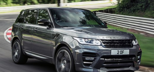 range-rover-sport on the road