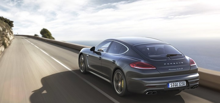 panamera turbo-s on the road