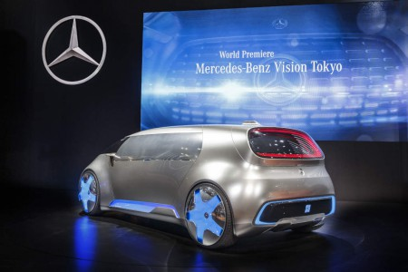 "World premiere for the Mercedes-Benz Vision Tokyo – Japanese premieres for the GLE and smart: Mercedes-Benz and smart are staging a rich celebration of innovation at the 44th Tokyo Motor Show. One of the highlights of the show is the world premiere of the Vision Tokyo design show car. The ""urban transformer"" embodies another trailblazing space concept from Mercedes-Benz which reflects the brand's growing appeal to a younger clientele."