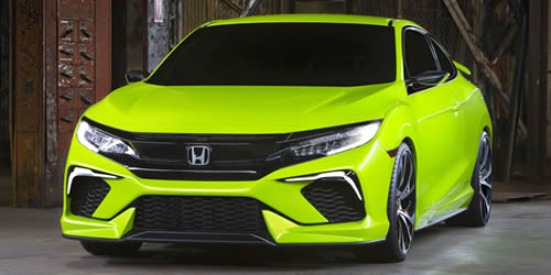 honda civic front green